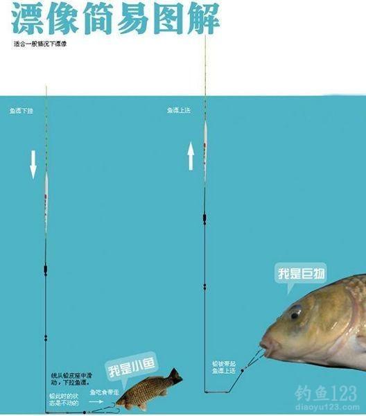 跑铅钓法大鱼小鱼吃钩漂相图