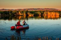 新疆乌伦古湖,钓鱼人的垂钓圣地