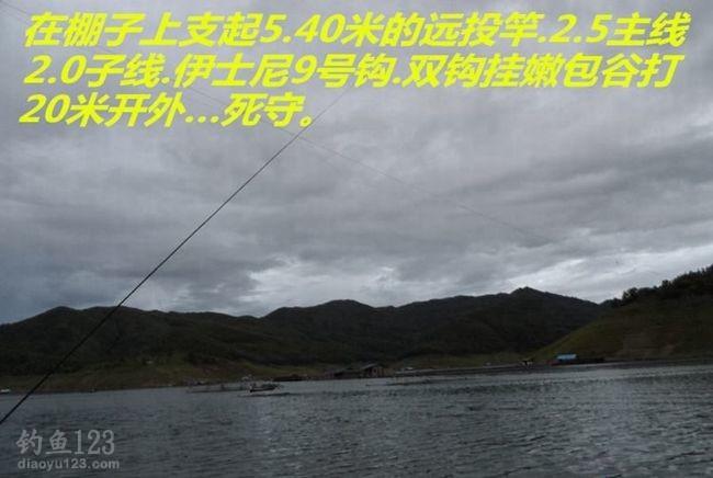 5.4米的远投竿,2.5主线配2.0子线