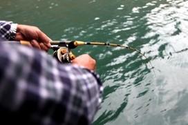 贵州毛口水库冬季筏钓竿筏钓大草鱼