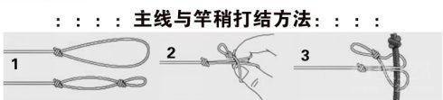 主线和竿稍的链接方法