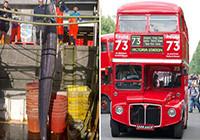 英国渔民捕获6米鳗鱼高过两层巴士