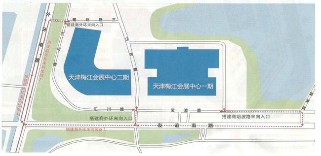 梅江会展中心线路图