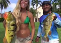 《水库钓鱼视频》 美女钓手野钓连竿上奇鱼