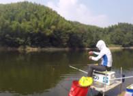 《白条游钓》白条游钓黑羊冲水库 腥香拉饵连杆鲫鱼