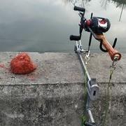 筏竿架子改成台钓架两用,专治栏杆