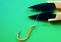 图解路亚钓法两种简单的鱼钩绑法